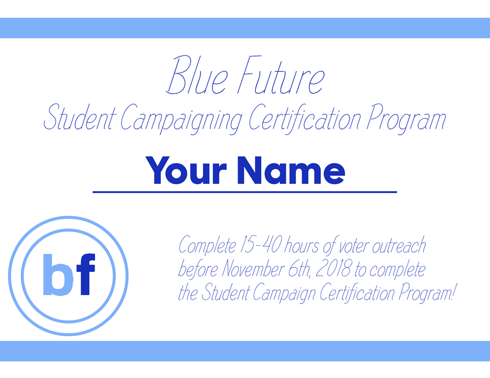 Campaigning Certification Program Our Blue Future